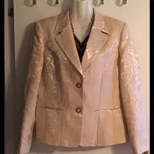 Rafaella jacket gold-cream colored designs size 10